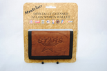 Dallas Stars Leather Embossed Logo Nylon Tri-Fold Wallet